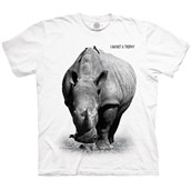 RHINO NOT A TROPHY Adult T-shirt