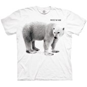 POLAR BEAR PROTECT MY HOME  T-shirt, Adult