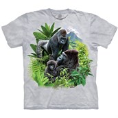 Gorilla Family T-shirt Adult