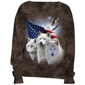 Patriotic Wolves Slouchy Crew
