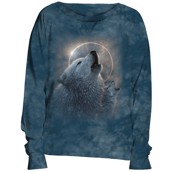 Wolf Eclipse Slouchy Crew