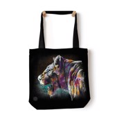 Painted Lion Tote Bag