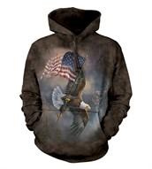 Flag-bearing Eagle Adult Hoodie