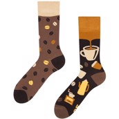 Good Mood adult bamboo socks - COFFEE BEANS, size 35-38