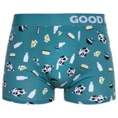 Good Mood Mens Fitted Trunks - COW
