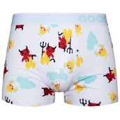 Good Mood Mens Fitted Trunks - ANGEL AND DEVIL