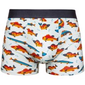Good Mood Mens Fitted Trunks - FISHING