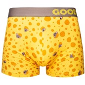 Good Mood Mens Fitted Trunks - CHEESE