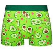 Good Mood Mens Fitted Trunks - AVOCADO LOVE