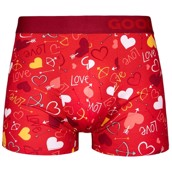 Good Mood Mens Fitted Trunks - HEARTS