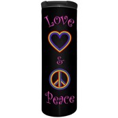 Love And Peace On Black Barista Tumbler 4,8 dl.