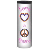 Love And Peace On White Barista Tumbler 4,8 dl.