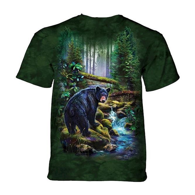 Black Bear Forest t-shirt, Adult XL
