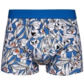 Looney Tunes Mens Fitted Trunks - BUGS BUNNY FACES