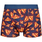 DC Comics Mens Fitted Trunks - SUPERMAN LOGO