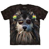 Smoking Rasta Wolf t-shirt