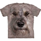Mini schnauzer face t-shirt