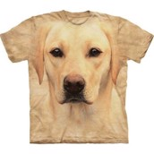 Yellow lab portrait t-shirt med gul labrador-motiv