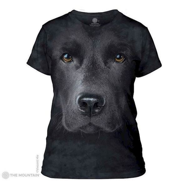 Black Lab Face ladies t-shirt