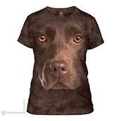 Chocolate Lab Face ladies t-shirt