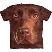 Chocolate Lab Face t-shirt
