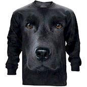 Black Lab Face long sleeve