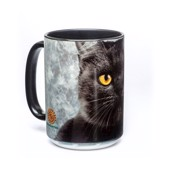 Big Face Black Cat Ceramic mug