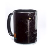 Black and White Wolf Face Ceramic mug