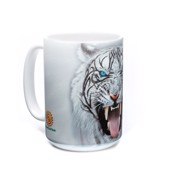 Big Face Tribal White Tiger Ceramic mug