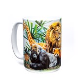 Zoo Collage Ceramic mug