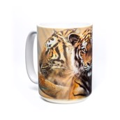 Resting Tiger Collage Ceramic mug