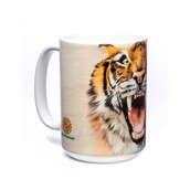 Roaring Tiger Face Ceramic mug