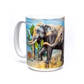 Asian Elephants Ceramic mug