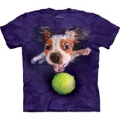 T-shirt från The Mountain med en Cavalier King Charles spaniel som dyker