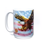 Eagle Flag Collage Ceramic mug