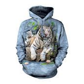 White Tigers Of Bengal Adult Hoodie