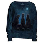 Wish Upon a Star - långärmad t-shirt med katter från The Mountain