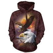 Eagle and Clouds Adult Hoodie
