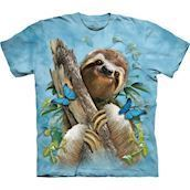 Sloth & Butterflies t-shirt