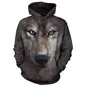 Wolf face Adult Hoodie