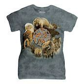 Animal Spirit Circle ladies t-shirt