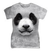 Big Face Panda ladies t-shirt
