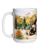 Black Bear Family Ceramic mug