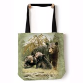 Black Bear Family Tote Bag
