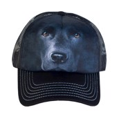 Black Lab Face Trucker Cap