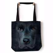 Black Lab Face Tote Bag
