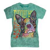 Boston Terrier Luv ladies t-shirt
