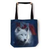 Canadian White Wolf Tote Bag
