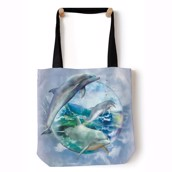 Dolphin Bobble Tote Bag