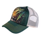 Emerald Forest Green Tiger Trucker Cap